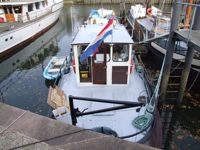 Living ship with mooring ROTTERDAM Dutch Barge 1913 All Boats