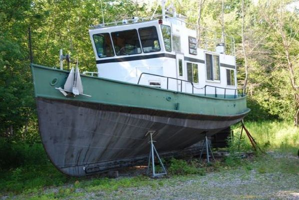 1957 Steel Hull Trawler Tug /Aluminum Superstructure - Boats Yachts for sale