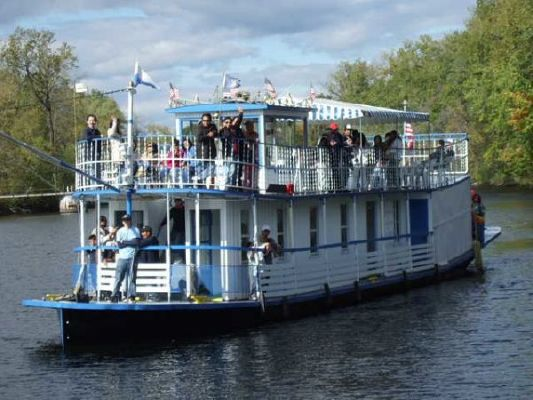 Steel Sternwheel Double Deck Riverboat 1974 Deck Boats For Sale