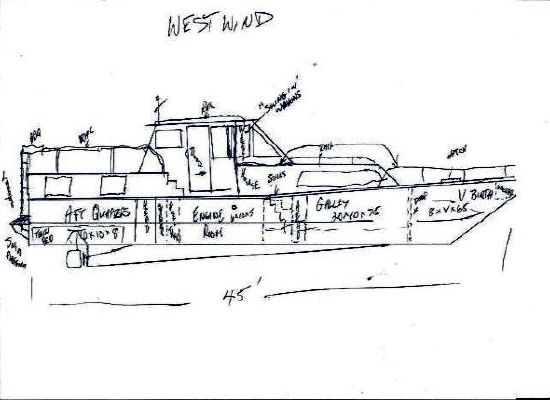 1976 45 steel custom trawler  3 1976 45 Steel Custom Trawler