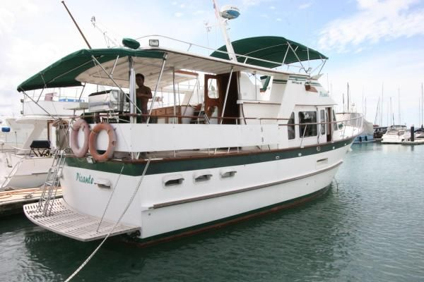 Kaohsiung Taiwan De Fever 44 Trawler 1983 Trawler Boats for Sale