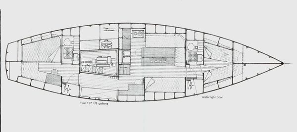 AMEL Maramu 48 Ketch 1984 Ketch Boats for Sale