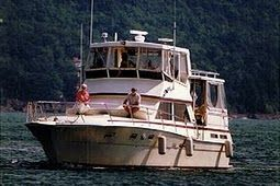 x 15' x 4' Fiberglass Viking Yacht /Sleeps 8 1987 1987 44' Viking Boats for Sale