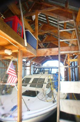 Custom 40 X 16 Boathouse Enclosed boathouse with loft 1989 All Boats