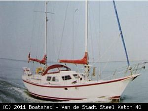 Van De Stadt Steel Ketch 40 1992 Ketch Boats for Sale