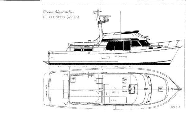 Ocean Alexander 456 + 3 Classicco 1995 Motor Boats Ocean Alexander Boats