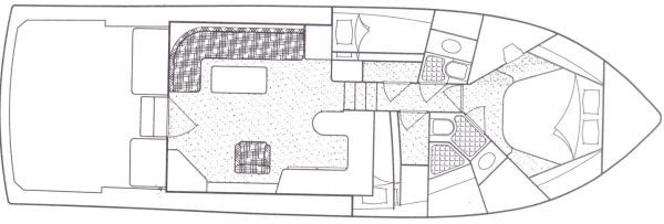 Bertram Convertible/ 3 Stateroom layout 1996 Bertram boats for sale