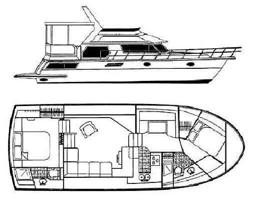 1998 carver 445 aft cabin motor yacht  2 1998 Carver 445 Aft Cabin Motor Yacht