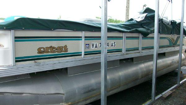 1998 crest pontoon boats super fisherman  1 1998 CREST PONTOON BOATS Super Fisherman