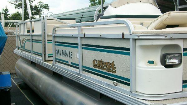 1998 crest pontoon boats super fisherman  3 1998 CREST PONTOON BOATS Super Fisherman