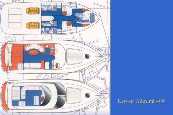 Admiral 404 Flybridge 1999 Flybridge Boats for Sale