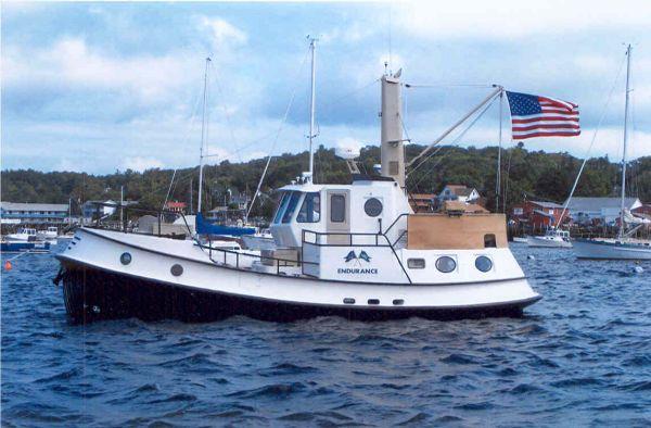 1999 north end rockport steel sam tibbets custom seaton for Garden design trawler boat