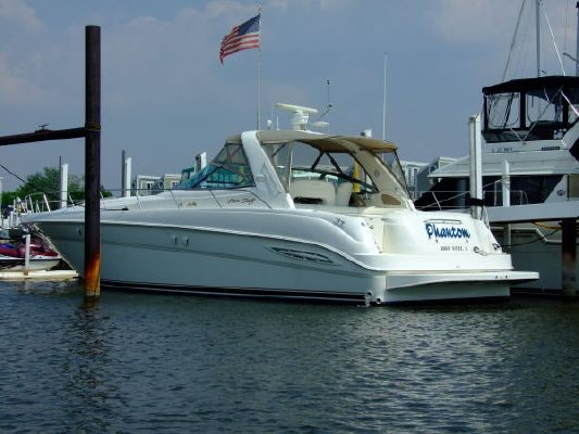 2000 sea ray 460 sundancer new canvas with polycarbonate windows  2 2000 Sea Ray 460 Sundancer New Canvas With Polycarbonate Windows