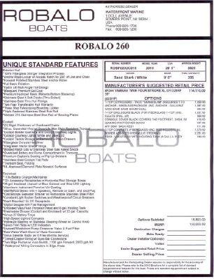 Robalo 260 Center Console 2010 Robalo Boats for Sale